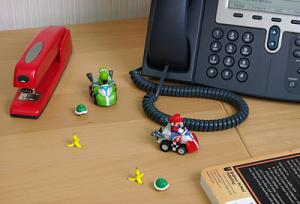 Mario Kart on your desk!